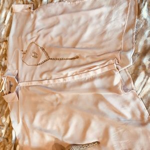 NWOT XS Jennifer Lopez flowing blush pink blouse